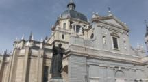 A Low Angle Shot Of Pope John Paul The Second At The Almudena Cathedral In Madrid Spain