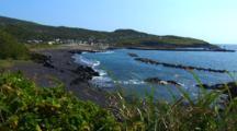 Miyake Jima, Japan - Scenic Shot Of Bay At Ako Port