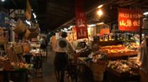 Tsukiji Fish Market, Tokyo - Person & Bicycle Walk Through Vegetable Market