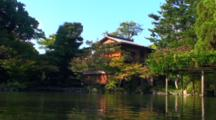 Kyoto, Japan - Tea House Pond Inside Wallls Of The Imperial Palace