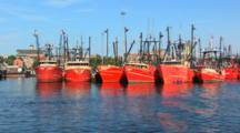 Commercial Fishing Boats Sitting Idle