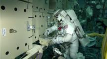 Astronauts Working Underwater In Neutral Buoyancy Lab (Nbl) At Nasa