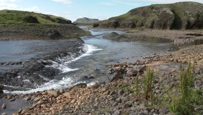 Stream from glacial meltwater, Iceland