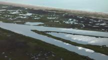 Louisiana Aerials Of Coastline