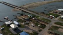 Louisiana Aerials Of Coastline And Buildings