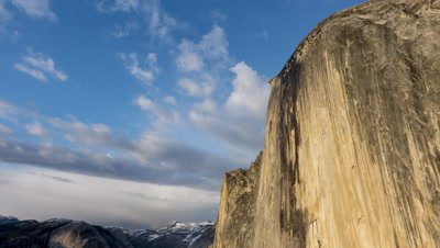 4K Half Dome Time Lapse, Close Up From The Diving Board, Yosemite National Park