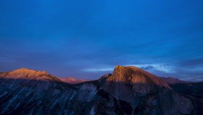 4K Sunset on Half Dome