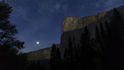 4K Moonlite Rising, Venus Setting, El Capitan