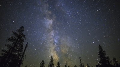 4K Night Sky Milky Way and Meteors