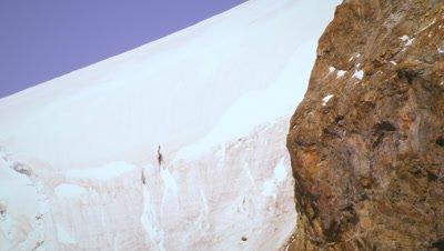 Tilting shot of Swiss mountainside