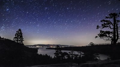 Astro timelapse of Lake Tahoe from above Emerald Bay. Shot in California.