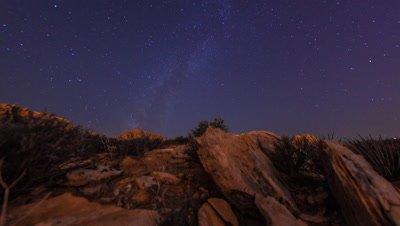 Timelapse tilting shot of the mountains at the Nevada desert