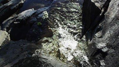 Static shot of waterfall