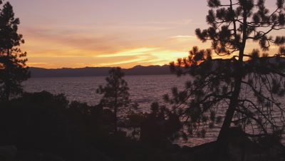 Static shot of Emerald Bay at Lake Tahoe, California, taken from across the bay.