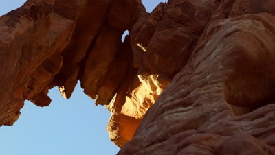 Static shot of arch at the Valley of fire park.