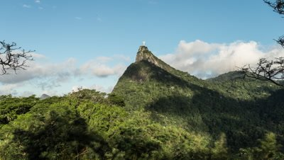 Time-lapse daylight footage of Christ the Reedemer statue from Tijuca National Forest.