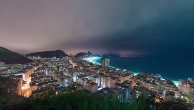 Time lapse of coast in Rio de Janeiro with Sugar Loaf