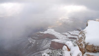 Time lapse over looking the Grand Canyon