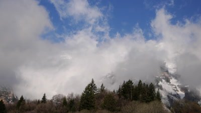 Timelapse shot of clouds blowing over Mt. Timpanogos, UT.