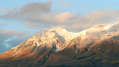 Timelapse of clouds blowing over Mt. Timpanogos, UT.