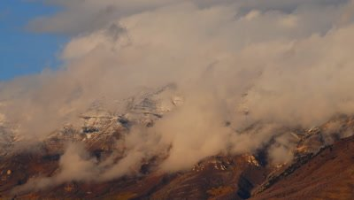 Timelapse of clouds blowing off Mt. Timpanogos, UT.