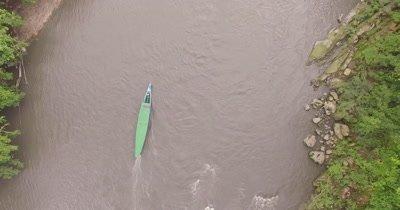 Aerial View Of Tambopata River In Peru