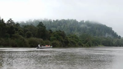 Bornean river filming from boat