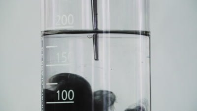 Dispersing of pigments in a liquid clear by ultrasound in the laboratory
