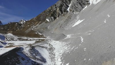 Drive along the slope of the Hungerburg mountain near Innsbruck