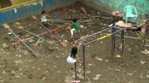 Children Play In Slum Playground In Manila