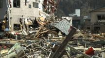 Japan Tsunami Aftermath - Destroyed Buildings And Debris In Kesennuma City