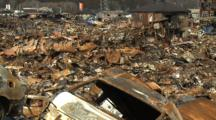 Japan Tsunami Aftermath - Burnt Out Wasteland In Kesennuma City