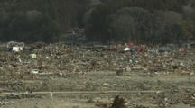 Japan Tsunami Aftermath - Remains Of Destroyed Downtown Rikuzentakata City