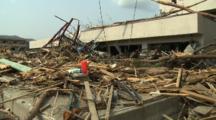 Japan Tsunami Aftermath - Damage To Hospital In Rikuzentakata City
