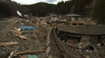 Japan Tsunami Aftermath - Destroyed Railway Tracks In Shizugawa City