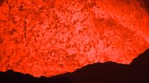 Wall Of Molten Lava Erupts Violently In Volcano Crater Ambrym Island