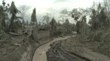 Village Sustains Huge Damage After Large Volcanic Eruption
