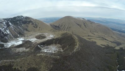 Aerial Footage Extinct Volcanic Craters