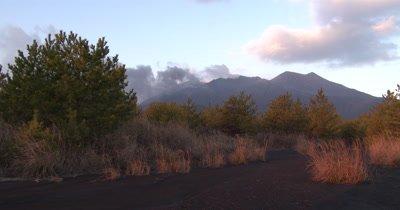 Volcano In Beautiful Dawn Light