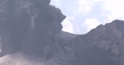 Volcano Explodes During Eruption Shooting Ash Skywards