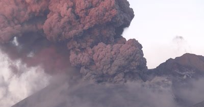Amazing Volcanic Eruption Explosion In Dawn Light