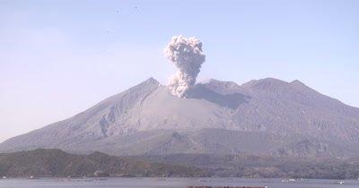 Volcano Erupts Volcanic Ash Across Bay