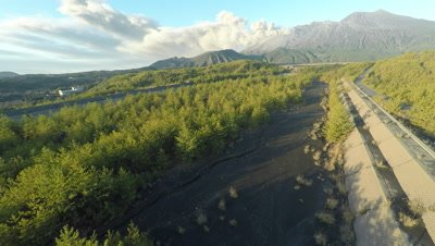Aerial Footage Of Volcano Eruption Volcanic Ash