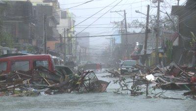 Typhoon Haiyan Devastation Storm Surge Flooding Tacloban