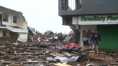 Survivors In Devastated Streets Tacloban After Typhoon Haiyan