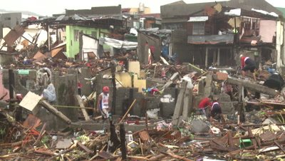 Typhoon Haiyan Storm Surge Destruction In Tacloban