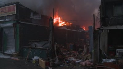 Fire Blaze Out Of Control Typhoon Haiyan Aftermath Tacloban
