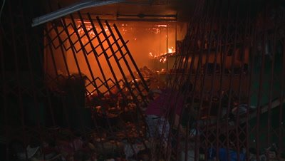 Man Attempts To Put Fire Out Aftermath Typhoon Haiyan Tacloban