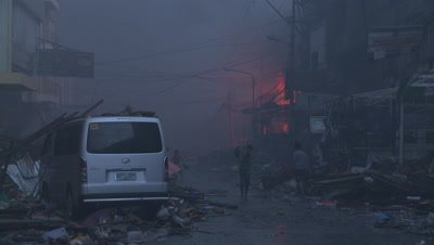Typhoon Haiyan Storm Surge Destruction In Tacloban