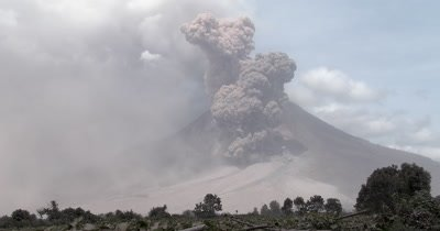 Pyroclastic Flow During Explosive Volcanic Eruption